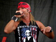 Bret Prints - Bret Michaels in Philly Print by Alice Gipson