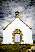 Wall Stone Wall Framed Prints - Breton church Framed Print by Elena Elisseeva
