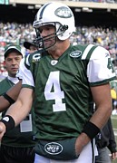New York Jets Framed Prints - Brett Favre Framed Print by Mountain Dreams