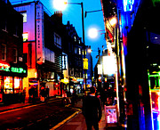 London Scenes Prints - Brewer Street Print by Malcolm Warrilow