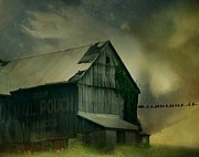 Barn Storm Framed Prints - Brewing Framed Print by Gothicolors And Crows