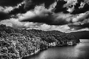 Man-made Lake Posters - Brewing Storm Summersville Lake  Poster by Thomas R Fletcher