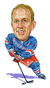 Rangers Paintings - Brian Leetch by Art