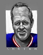 Ny Rangers Framed Prints - Brian Leetch Framed Print by Chris Ross