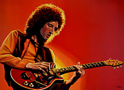 Brian May Print by Paul Meijering