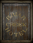 Berwick Framed Prints - Briar Creek Hotel Sign Framed Print by John Stephens