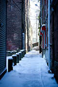 Allan Millora Framed Prints - Brick Alley Framed Print by Allan Millora