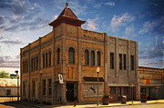 Schools Photo Originals - Brick Building Old Downtown El Campo City Texas by Arco Montufar