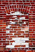 Red Bricks Prints - Brick in the Wall Print by Karon Melillo DeVega