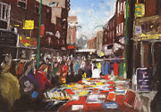 Paul Mitchell Acrylic Prints - Brick Lane Market Acrylic Print by Paul Mitchell