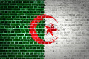Old Wall Digital Art Prints - Brick Wall Algeria Print by Antony McAulay