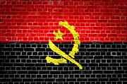 Old Wall Digital Art Prints - Brick Wall Angola Print by Antony McAulay