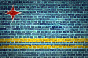 Old Wall Digital Art Prints - Brick Wall Aruba Print by Antony McAulay