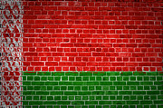 Old Wall Digital Art Prints - Brick Wall Belarus Print by Antony McAulay