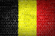 Old Wall Digital Art Prints - Brick Wall Belgium Print by Antony McAulay