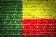 Old Wall Digital Art Prints - Brick Wall Benin Print by Antony McAulay