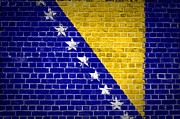 Stonewall Digital Art - Brick Wall Bosnia and Herzegovina by Antony McAulay