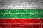 Old Wall Digital Art Prints - Brick Wall Bulgaria Print by Antony McAulay