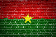 Burkina Faso Prints - Brick Wall Burkina Faso Print by Antony McAulay