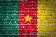 Building Exterior Digital Art - Brick Wall Cameroon by Antony McAulay