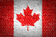 Building Exterior Digital Art - Brick Wall Canada by Antony McAulay