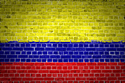 Old Wall Framed Prints - Brick Wall Colombia Framed Print by Antony McAulay