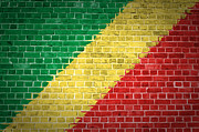 Building Exterior Digital Art - Brick Wall Congo-Brazzaville by Antony McAulay