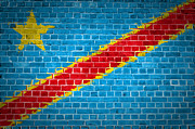 Building Exterior Digital Art - Brick Wall Congo-Kinshasa by Antony McAulay