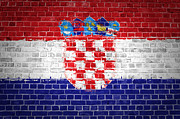 Building Exterior Digital Art - Brick Wall Croatia by Antony McAulay