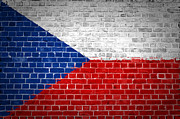Czech Republic Digital Art Prints - Brick Wall Czech Republic Print by Antony McAulay