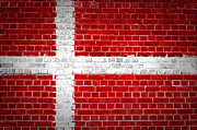 Building Exterior Digital Art - Brick Wall Denmark by Antony McAulay