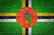 Old Wall Prints - Brick Wall Dominica Print by Antony McAulay