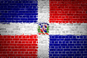 Old Wall Prints - Brick Wall Dominican Republic Print by Antony McAulay