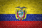 Old Wall Prints - Brick Wall Ecuador Print by Antony McAulay