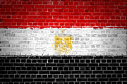 Building Exterior Digital Art - Brick Wall Egypt by Antony McAulay
