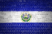 Backdrop Digital Art - Brick Wall El Salvador by Antony McAulay