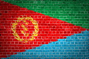 Old Wall Prints - Brick Wall Eritrea Print by Antony McAulay