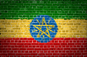 Building Exterior Digital Art - Brick Wall Ethiopia by Antony McAulay