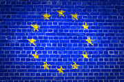 Old Wall Prints - Brick Wall European Union Print by Antony McAulay