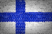 Building Exterior Digital Art - Brick Wall Finland by Antony McAulay