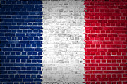 Old Wall Posters - Brick Wall France Poster by Antony McAulay