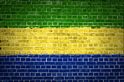 Building Exterior Digital Art - Brick Wall Gabon by Antony McAulay