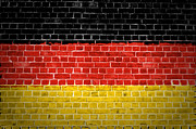 Building Exterior Digital Art - Brick Wall Germany by Antony McAulay