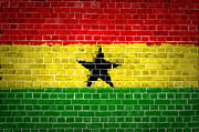 Building Exterior Digital Art - Brick Wall Ghana by Antony McAulay