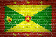 Old Wall Prints - Brick Wall Grenada Print by Antony McAulay