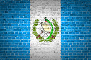 Old Wall Prints - Brick Wall Guatemala Print by Antony McAulay
