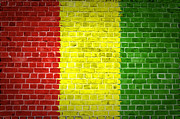Old Wall Prints - Brick Wall Guinea Print by Antony McAulay