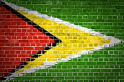 Old Wall Prints - Brick Wall Guyana Print by Antony McAulay