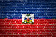 Haiti Digital Art Prints - Brick Wall Haiti Print by Antony McAulay