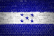 Old Wall Prints - Brick Wall Honduras Print by Antony McAulay